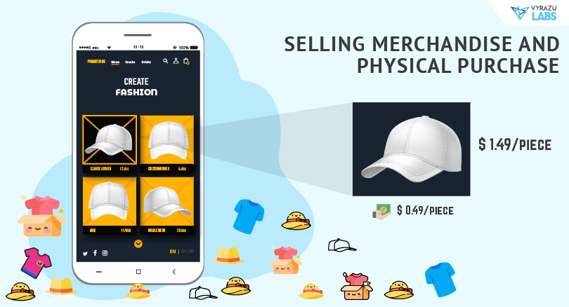Selling merchandise and physical purchase