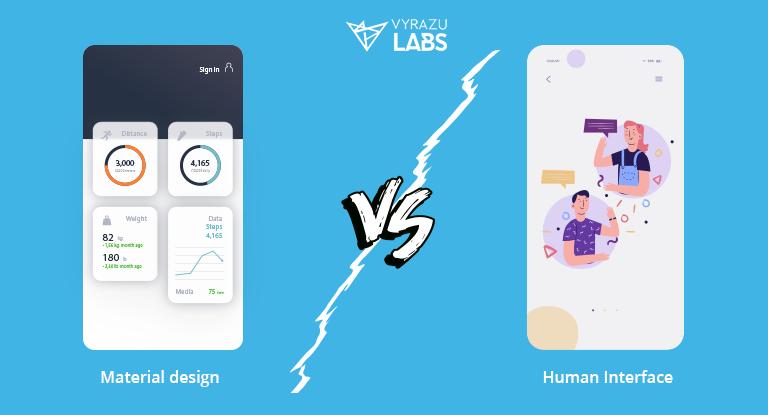material design vs human interface