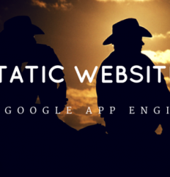 google app engine static sites