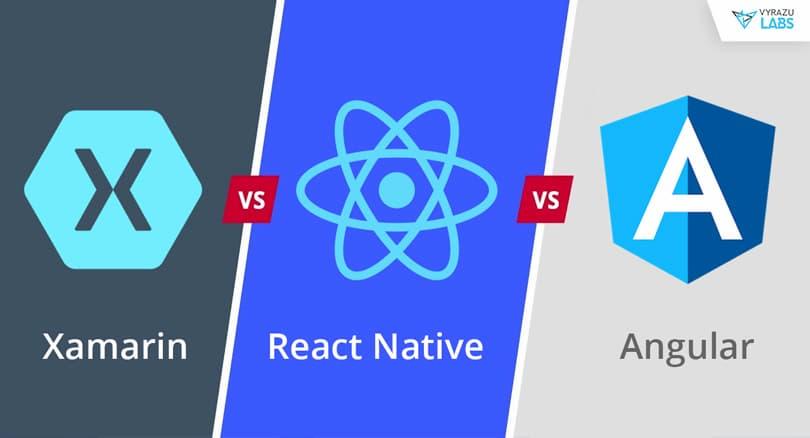 Angular vs React Native vs Xamarin